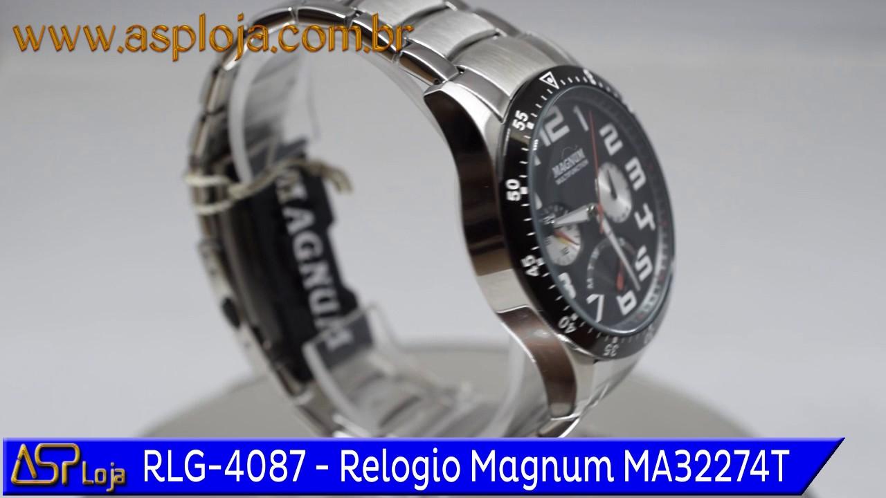 9b6b65a1fc8 RLG 4087 Relogio Magnum Masculino Analógico Multifunção MA32274T ...