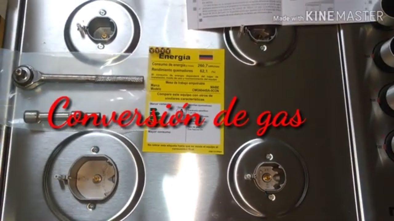 Como Cambiar Una Estufa De Gas Natural A Lp Cambio De Espreas