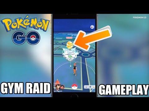 Pokemon GO - NEW GYM RAID BATTLE UPDATE GAMEPLAY! - YouTube