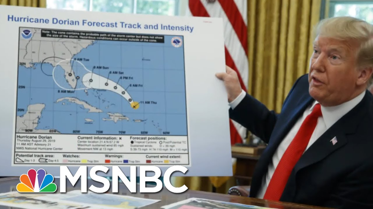 Trump Shows Hurricane Map Apparently Altered By Sharpie | The Beat With Ari Melber | MSNBC