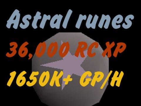 Oldschool Runescape Astral runes | 36k RC 26k MAGE 1650k+ GP/H |