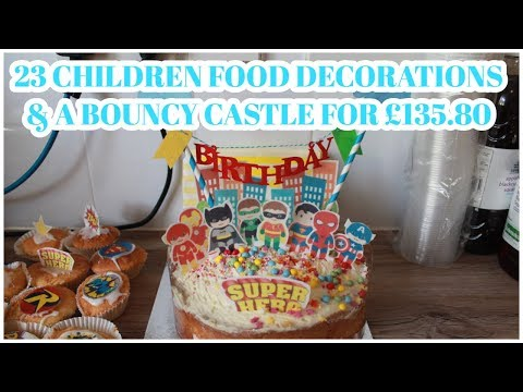 Childrens Kids Superhero Birthday Party On A Budget | With Bouncy Castle For £135!| Becca Boo