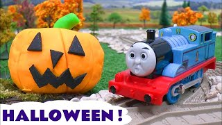 thomas the train play doh halloween pumpkin ghosts haunted toy story tom moss prank playdoh