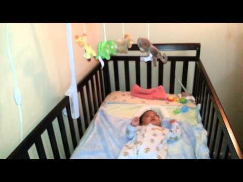 Crib toys at 11th week