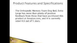 Pet Products Online | Orthopedic Memory Foam Dog Bed Review Article | Petproductsonline.info