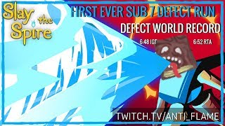 Slay the Spire Speedrun Defect Any% World Record - First Ever Sub 7 Minute Defect Run