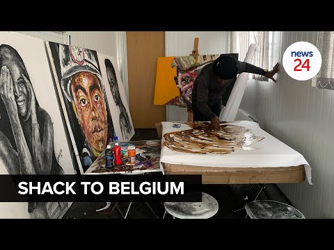 WATCH   Self-taught artist goes international with first solo exhibition in Belgium