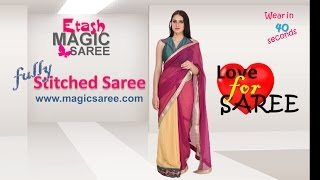 How to wear Magic Saree - Flourish half & half Chiffon Georgette saree