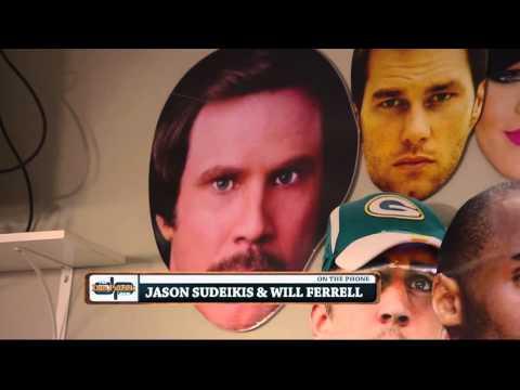 Will Ferrell interrupts Jason Sudeikis' interview 02/19/2016
