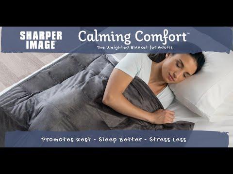 Calming Comfort Weighted Blanket Youtube