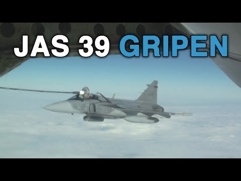 Swedish Air Force JAS 39 Gripen Aerial Refueling