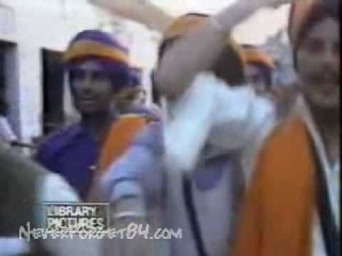 1984 Operation Bluestar News Clip & Reaction of UK Sikhs