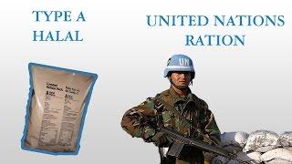 United Nations Combat Ration Pack - Halal A menu PART 2