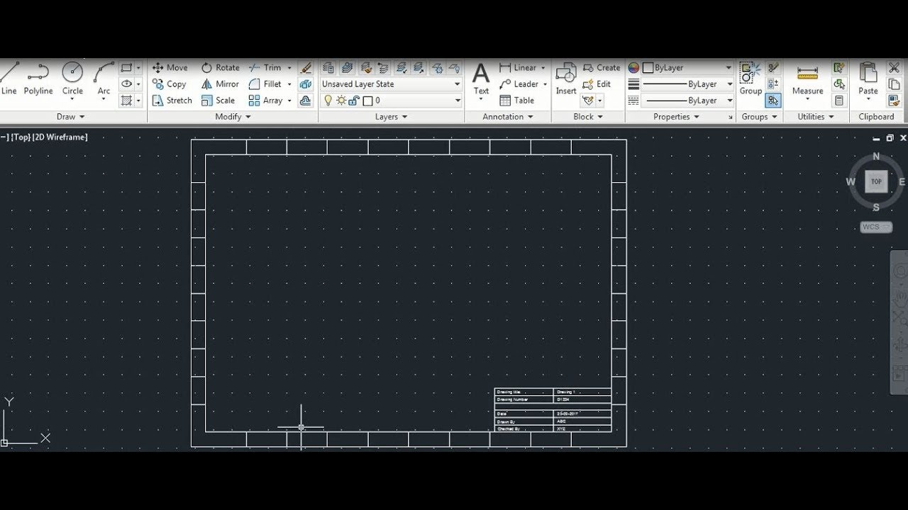 create title block template in autocad youtube. Black Bedroom Furniture Sets. Home Design Ideas