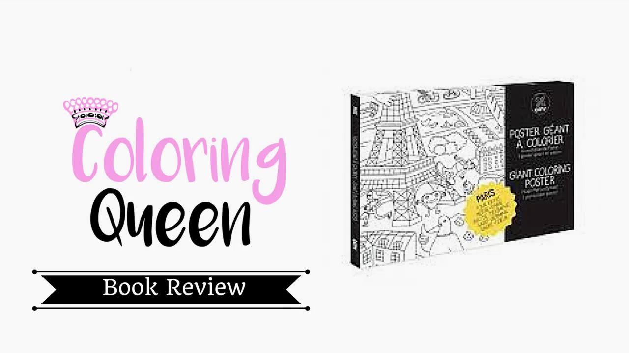 Omy Giant Coloring Poster - Paris: Adult Coloring Poster Review ...