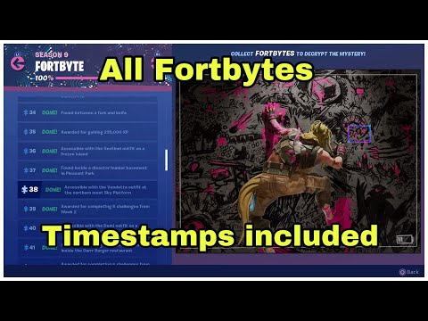 ALL FORTBYTE LOCATIONS Guide (Fortbytes #01-49) - Fortnite
