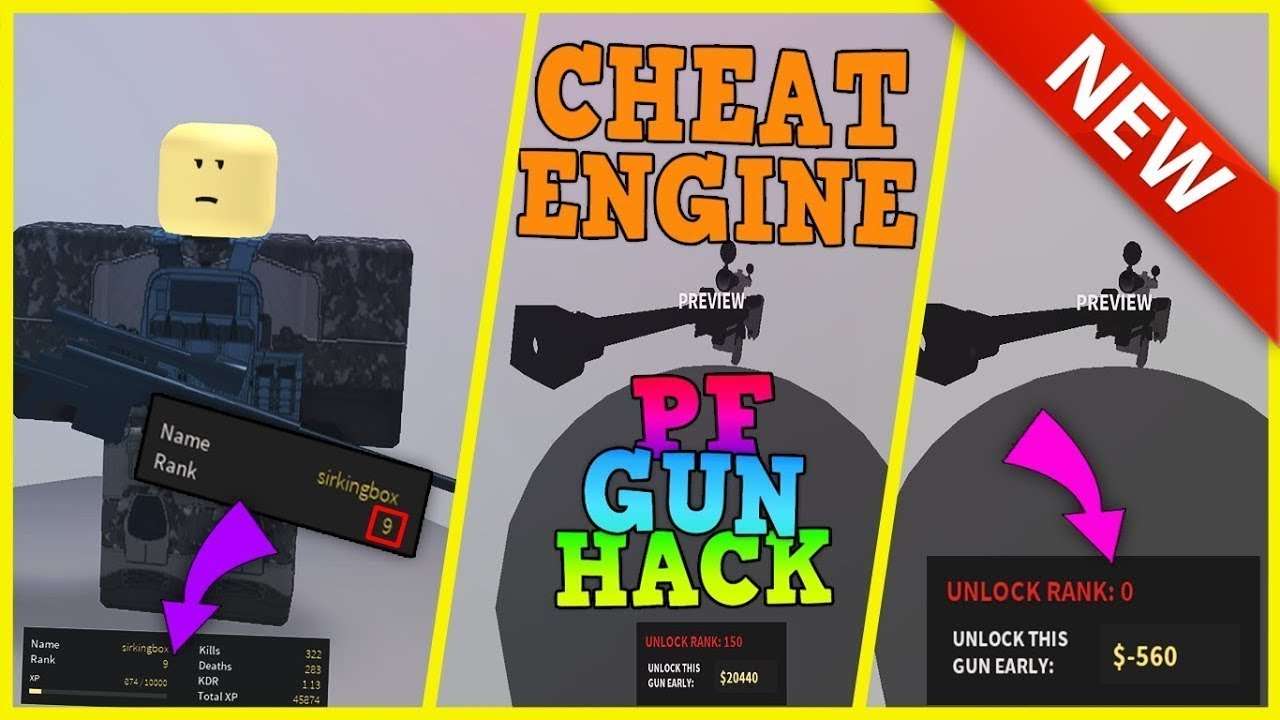 Hacks Para Roblox Phantom Forces 2018 How To Hack Any Gun U Want In Phantom Forces W Cheat Engine Youtube