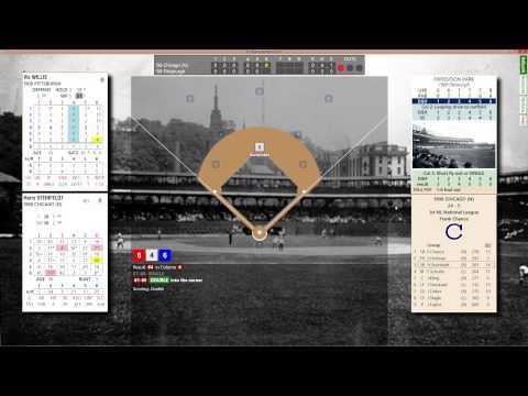 1906 Chicago Cubs vs 1909 Pittsburgh Pirates PC Replay Baseball