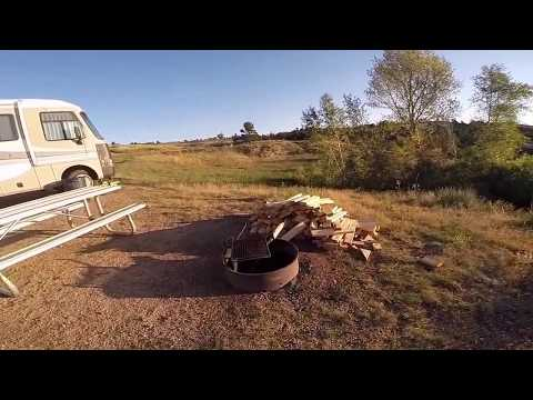 Camping at Granite Reservoir, Curt Gowdy State Park, Wyoming