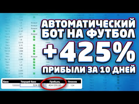 Автоматический Бот на Футбол. +425% прибыли за 10 дней. Секретный Авто Бот для ставок на спорт.
