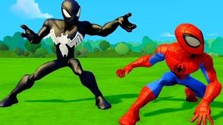 Человек Паук Мультик игра и Черный Человек Паук Гонки Тачки Машинки Дисней SpiderMan Disney