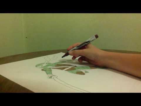 Drawing Leonardo the ninja turtle