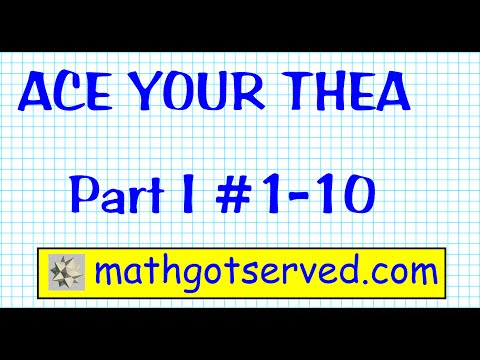 THEA Mathematics Texas Higher Education Assessment Test Part I  1 to 10.wmv