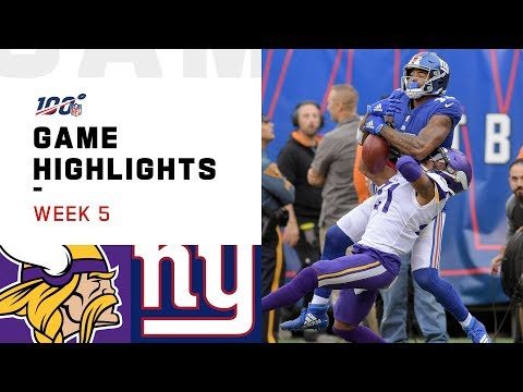 Vikings vs. Giants Week 5 Highlights | NFL 2019