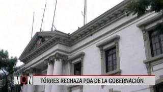 27/07/15 14:44 TÓRRES RECHAZA POA DE LA GOBERNACIÓN