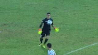 Uzbekistan goalkeeper Jasurbek Umrzakov scores from his own half in AFC U-16 Championship 2016 by : The AFC Hub