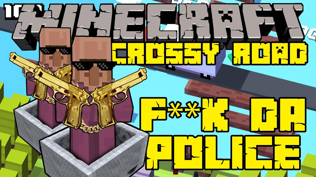 how to make crossy road on minecraft