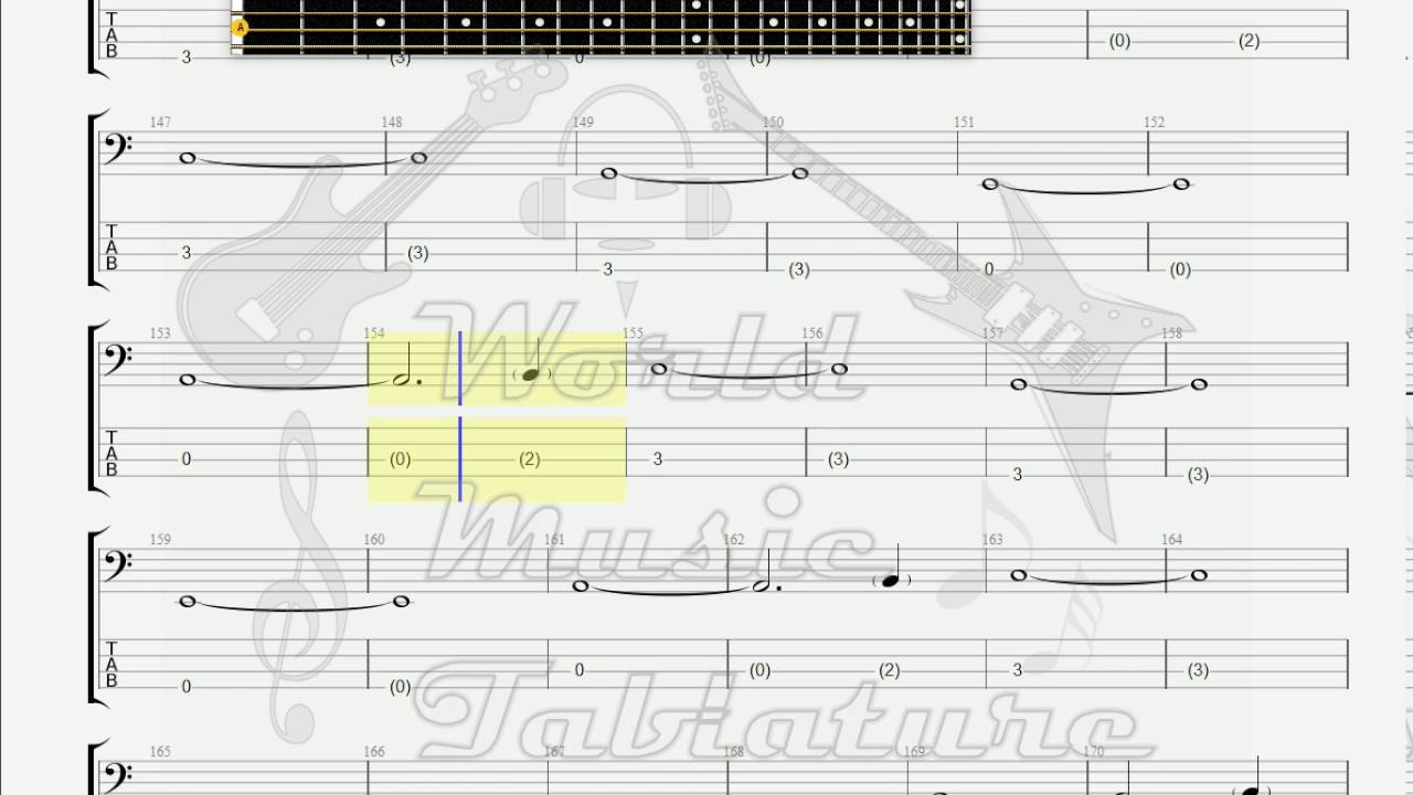 Cranberries Empty Bass Guitar Tab Youtube