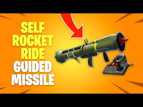 How To SELF ROCKET RIDE With New GUIDED MISSILE In Fortnite Battle Royale