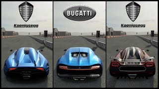 The Ultimate Hypercar Battle! | Regera vs Chiron vs ONE:1 | Forza Motorsport 7