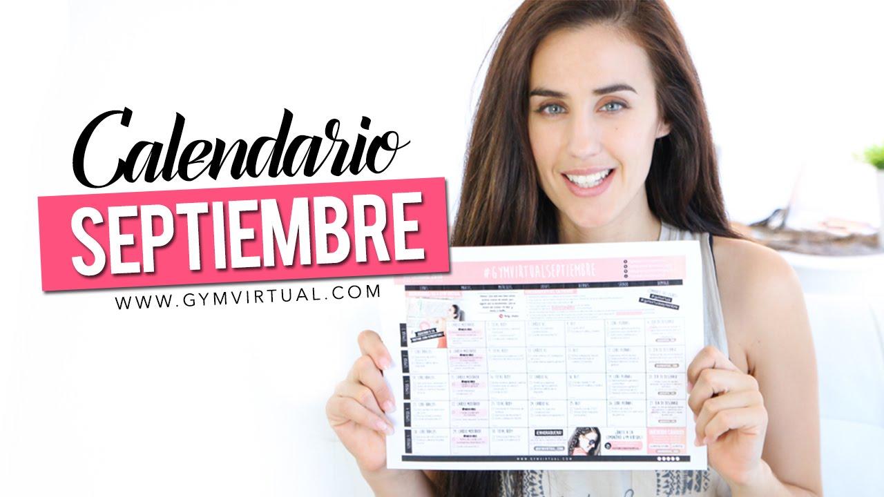 Calendario Septiembre Gymvirtual.Calendario De Entrenamiento Gymvirtualseptiembre