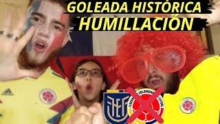 Ecuador vs Colombia 6-1 | Reacción de Hinchas