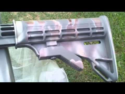 how to paint your paintball gun in camouflage youtube. Black Bedroom Furniture Sets. Home Design Ideas