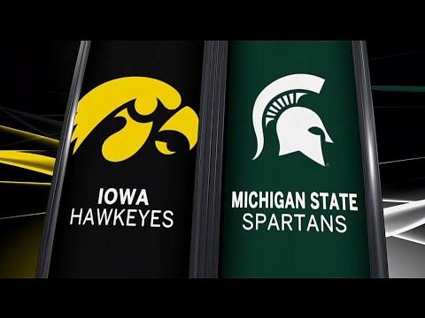 Iowa at Michigan State - Football Highlights