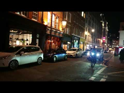 London Streets at Night - BREWER STREET - W1 - (Soho)