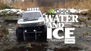 Axial SCX10 Trail Honcho, My Best Clips in snow, water and ice