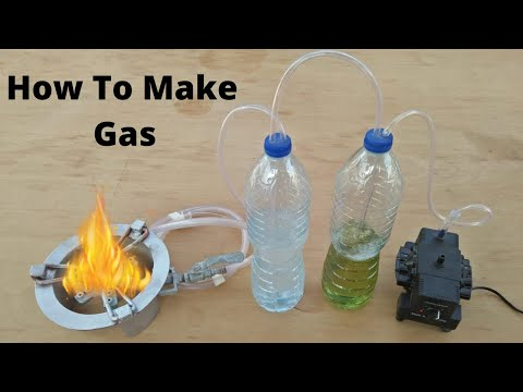 How To Make Gas At Home From Petrol And Water Diy Experiment With Air Pump