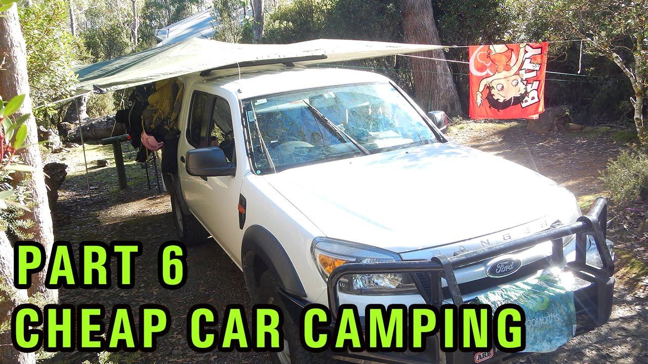cheap diy car camping setup part 6 caravan trailer park. Black Bedroom Furniture Sets. Home Design Ideas