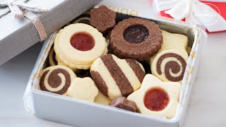 Make Any Cookies with 1 cookie dough / Butter Cookie Box / Butter & Chocolate Cookie Variations