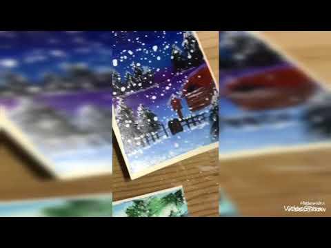 Vẽ tranh noel bằng màu nước cực đơn giản