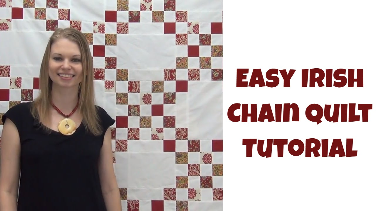 b8c4bb73 How to Make an Easy Irish Chain Quilt - Beginner Quilting Tutorial with  Leah Day