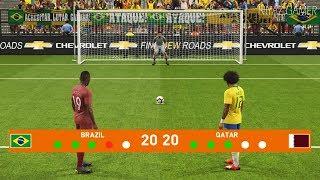 BRAZIL vs QATAR | Penalty Shootout | PES 2019 Gameplay PC