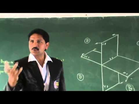 Dr. POLAMURI RAMAMOHAN REDDY sir's lecture on ENGINEERING DRAWING (PROJECTIONS)  [PART-1].