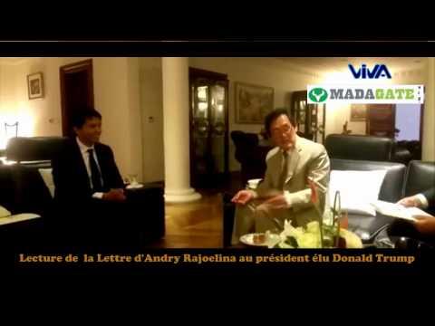 Andry Rajoelina. Lettre au Président Donald Trump