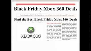 Black Friday Xbox 360 Deals 2012