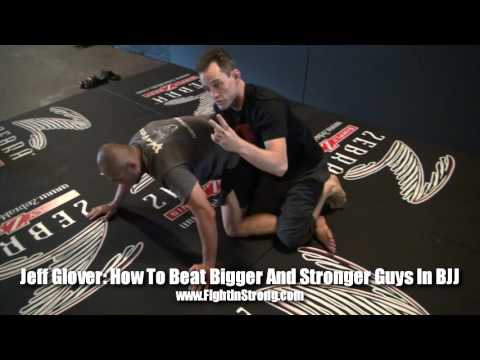 HOW TO BEAT BIGGER GUYS IN BJJ WITH JEFF GLOVER  MUST SEE! !!!